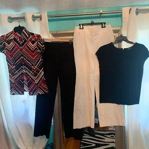 2 Blouses , 2 Pants